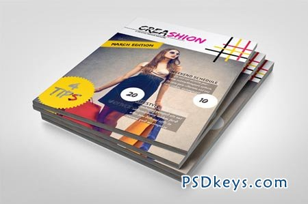 Creative Magazine Template 45570 » Free Download Photoshop Vector ...