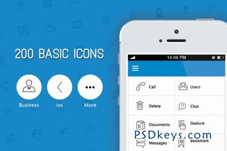 200 Basic Icon set - Licons 29733