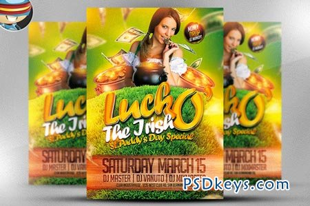 Luck O' The Irish Flyer Template 21826