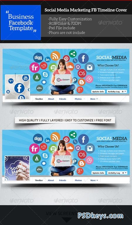 Social Media Marketing Facebook Timeline Cover 7734182 Free