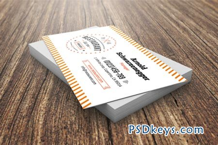 Restaurant business card template 45409 free download photoshop restaurant business card template 45409 wajeb Choice Image