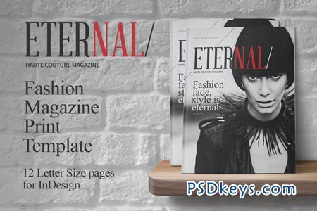 Fashion Magazine Print Template 45022 » Free Download Photoshop ...