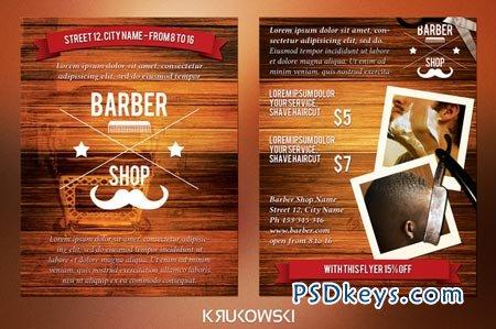 barber shop 2 sided flyer 44374 free download photoshop vector stock image via torrent. Black Bedroom Furniture Sets. Home Design Ideas
