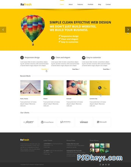 Refresh - Multipurpose PSD template 44933
