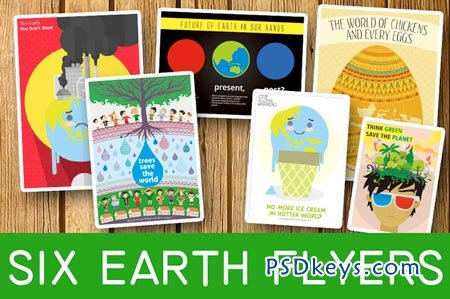 Six Earth Flyers Bundle 44822