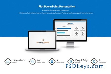 stock market ppt templates free download - flat powerpoint presentation 45037 free download
