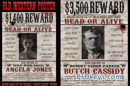 Vintage Wanted Poster 44965