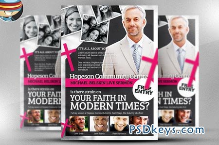 Modern Church Flyer Template 29535 » Free Download Photoshop ...