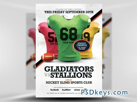 American Football Flyer Template 4