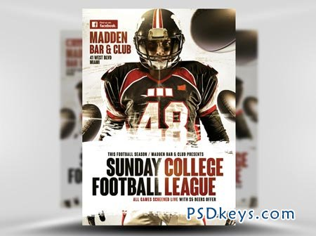 American Football Flyer Template 3