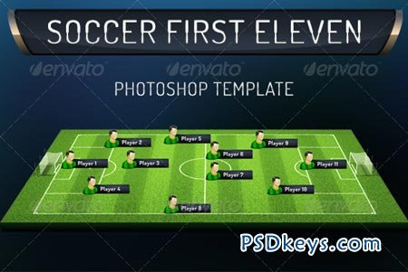 First Eleven Soccer Photoshop Template 5255768 » Free Download ...