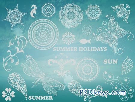 Vector Summer Design Elements 44053