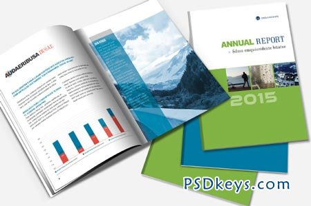 Annual Report & Brochure Template 22716 » Free Download Photoshop