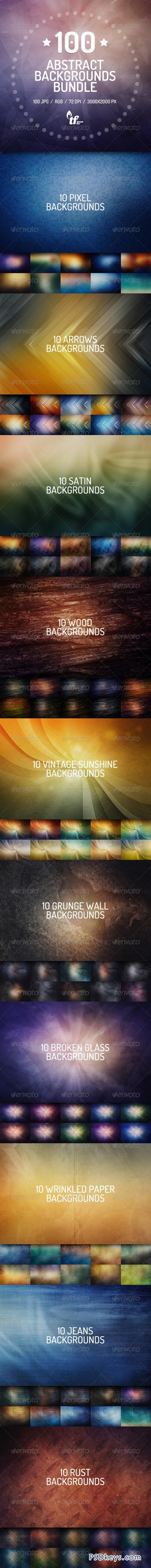 100 Abstract Backgrounds Bundle 7577567
