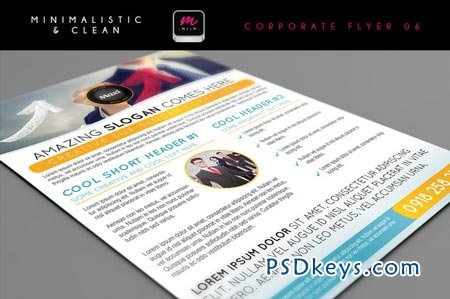 Clean Corporate Flyer Template 06 14455