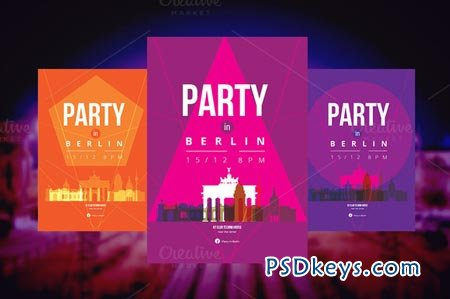 3 Posters - Party in Berlin 25845