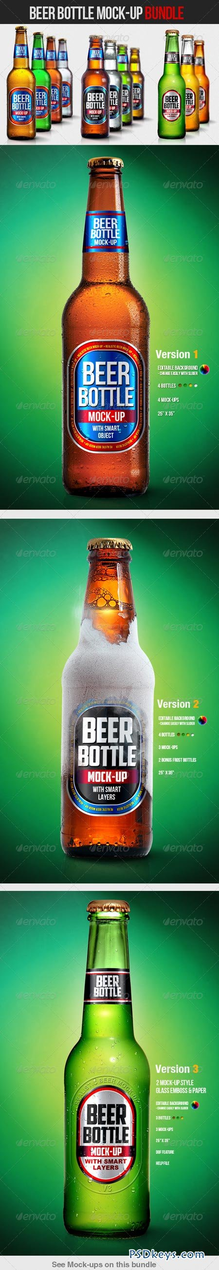 Beer Bottle Mock-Up Bundle 4629011