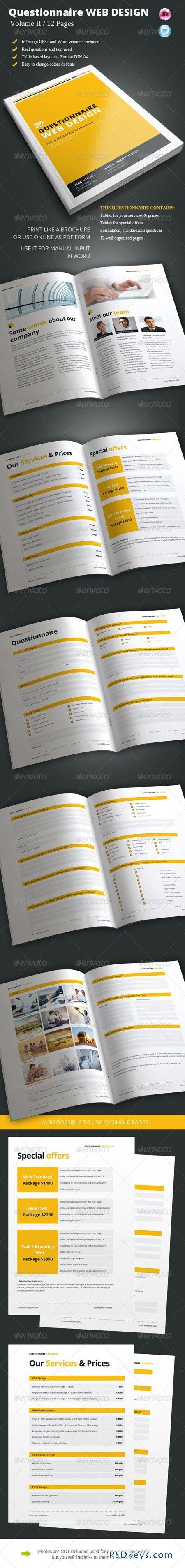 Questionnaire Web Design Vol. II 6837693