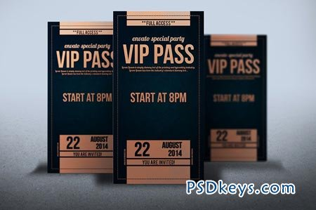 Elegant leather style VIP PASS card 52107