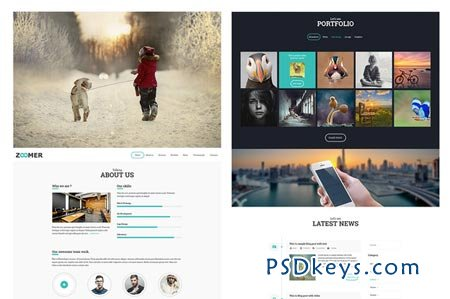 Zoomer PSD Website Template Free Download Photoshop Vector - Web template torrent