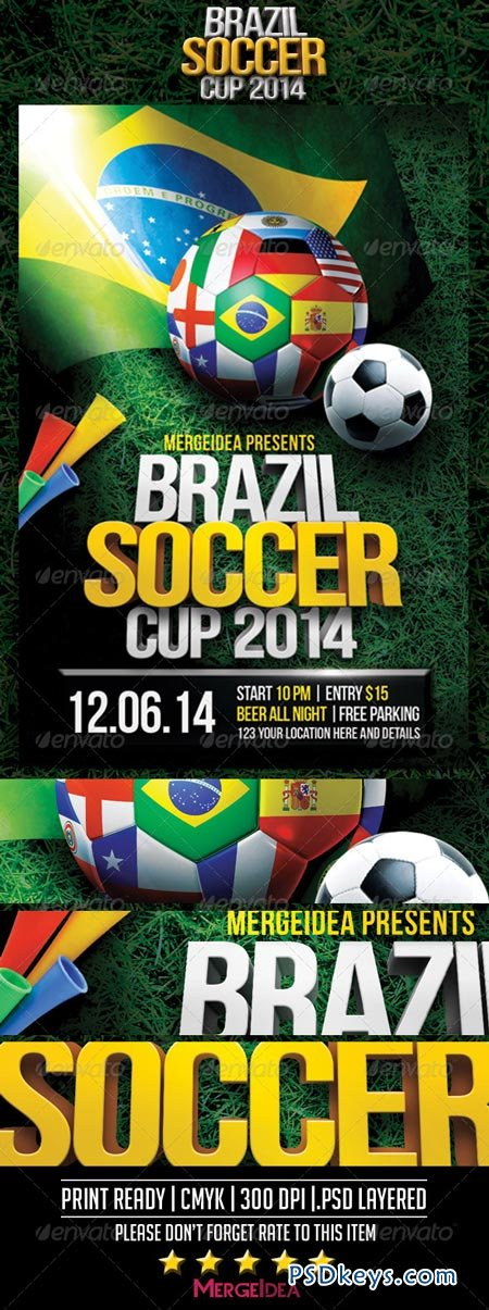 Round Of 16 Brazil 2014 Promo - Vector Download
