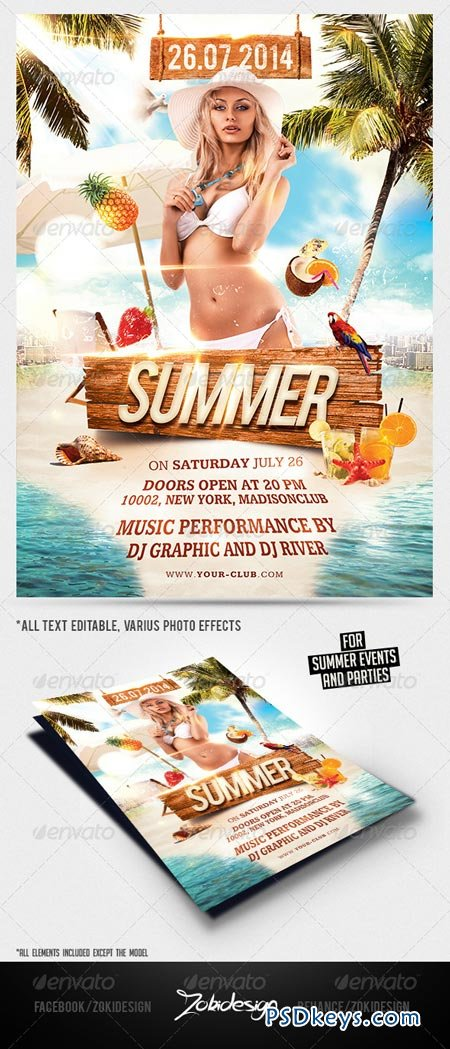 Summer Beach Party Flyer 7973328