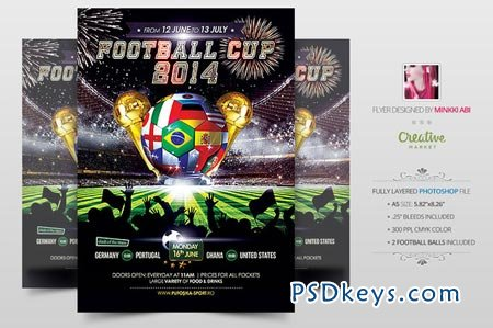 Football Cup 2014 Poster Flyer 51585