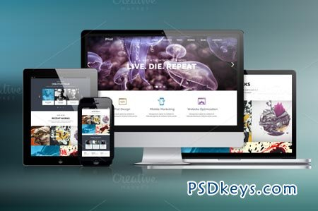 Pilot - One Page PSD Template 51579