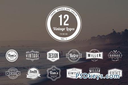 12 Vintage Logos - Vol. 1 51786