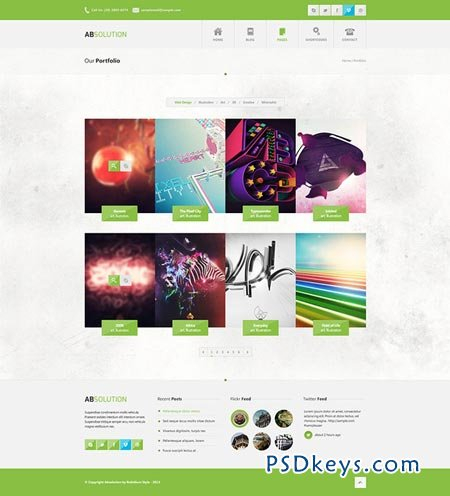 Absolution HTML5 Website Template 51155
