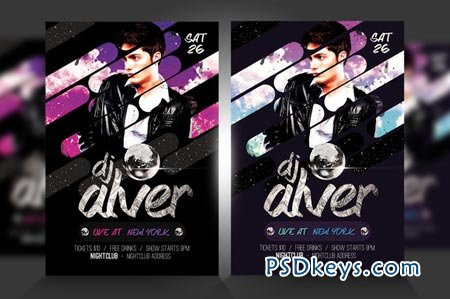 Live DJ Flyer Template PSD V3 51553