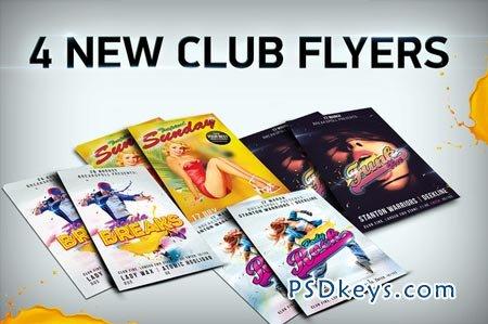 4 Funky Flyer Templates Bundle PSD 50841