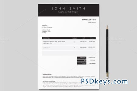 Invoice Template 3 Colours 50675 Free Download Photoshop Vector Stock Image Via Torrent Zippyshare From Psdkeys Com