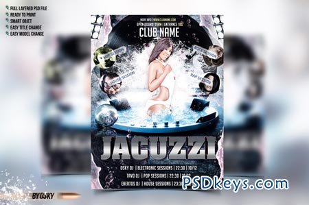 Jacuzzi Party Flyer 50649