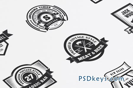 22 Vintage Templates, Badges, Logos 50242