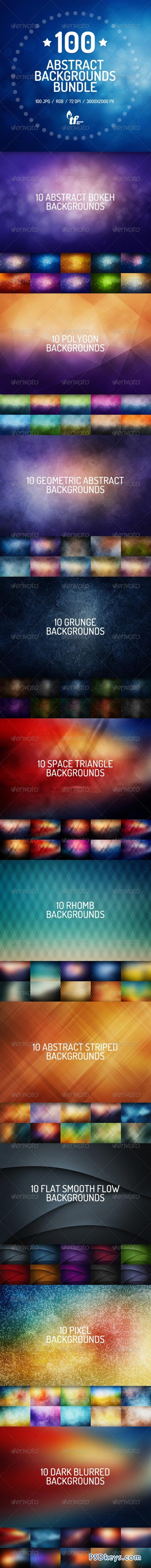 100 Abstract Backgrounds Bundle 7821118
