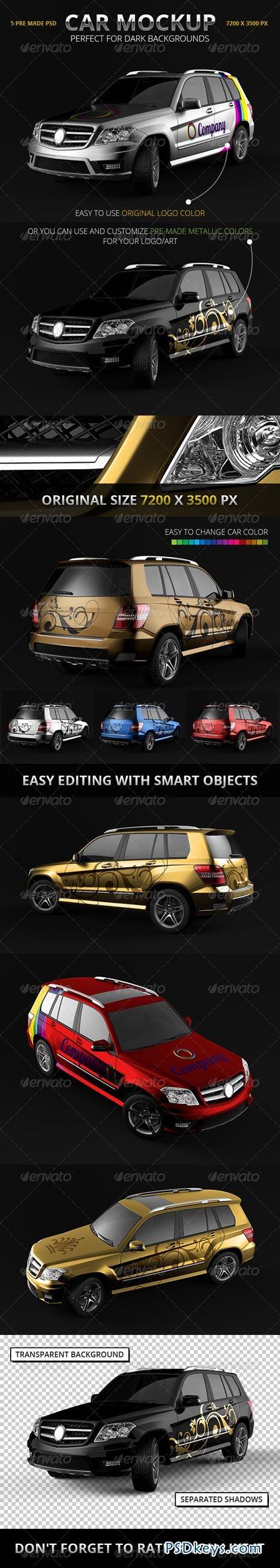 Car Branding Vector Car Branding Mockup Suv