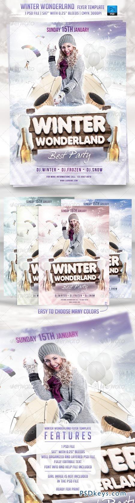 winter wonderland flyer template 6400891