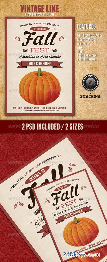 fall fest flyers 5667717  u00bb free download photoshop vector