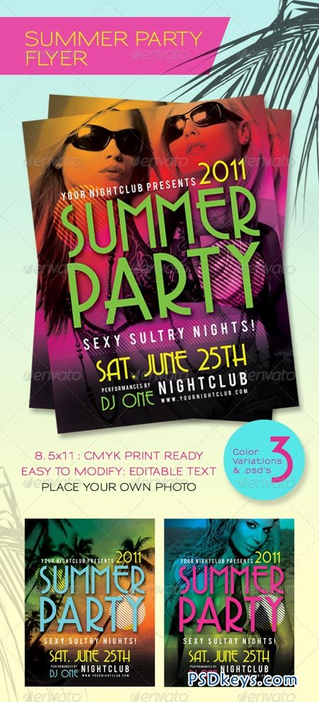 Summer Party Flyer 233295