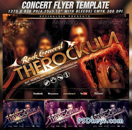 concert flyer template free