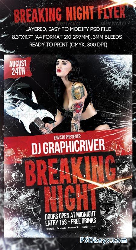 Breaking Night Flyer 2480577