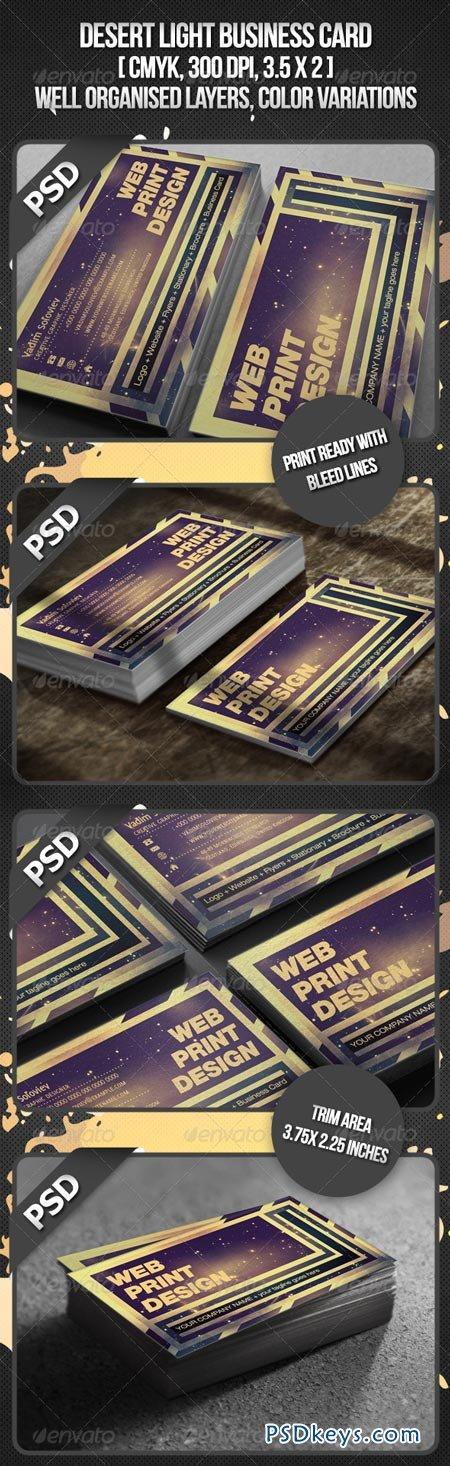 Desert Light Business Card 1333624