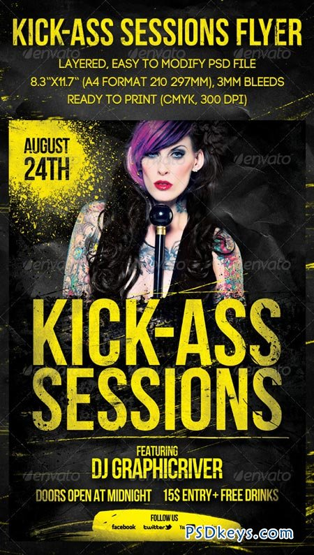 Kick-Ass Sessions Flyer 2544589