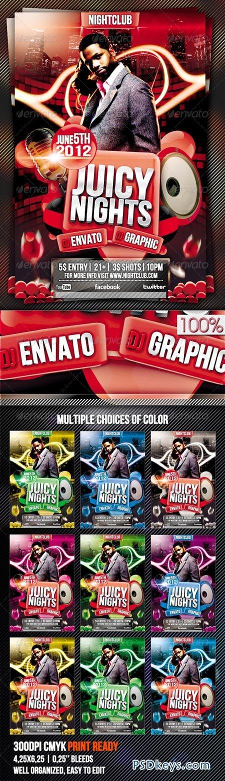 Juicy Nights Flyer Template Vol.3 2410926
