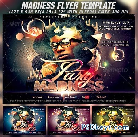 Party Madness Flyer Template 1382636