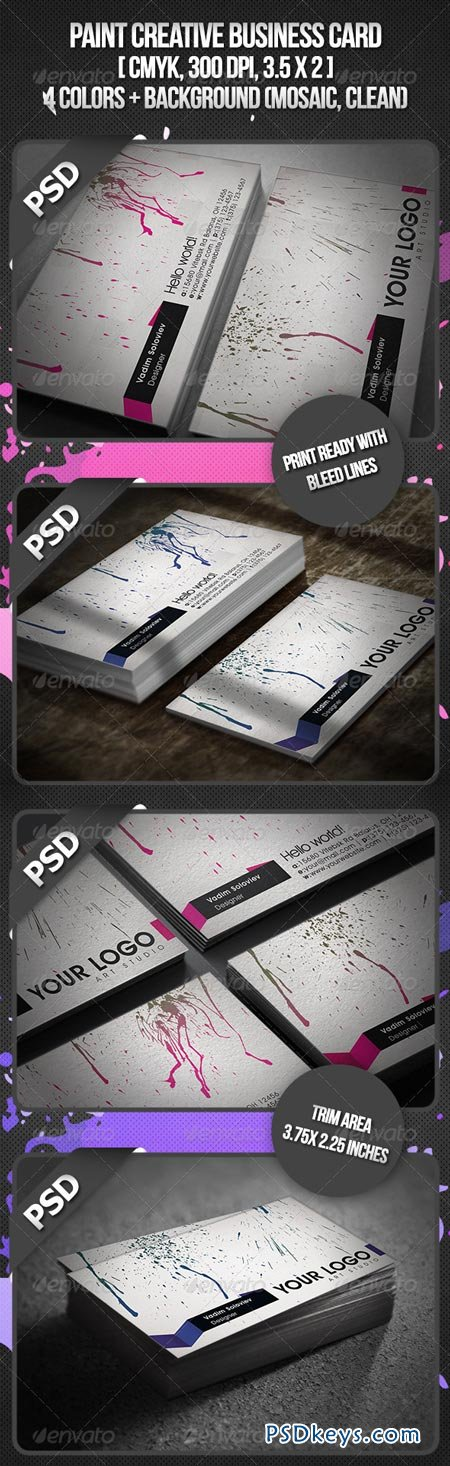 Paint Creative Business Card 2564105