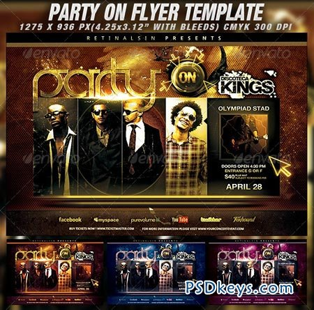 Party On Flyer Template 1963261