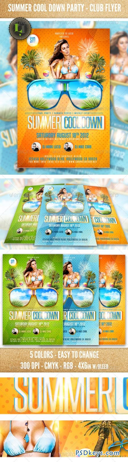 Summer Cool Down Party - Club Flyer 2429476