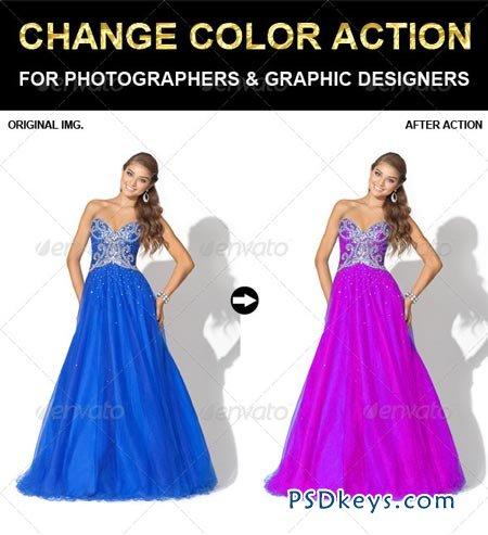 Change Color Photoshop Action 6625520